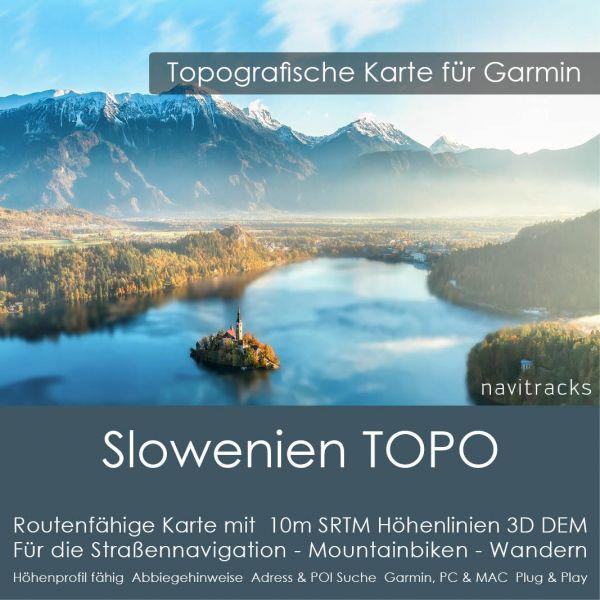 Slowenien Topo GPS Karte Garmin mit 10m Höhenlinien (Download)