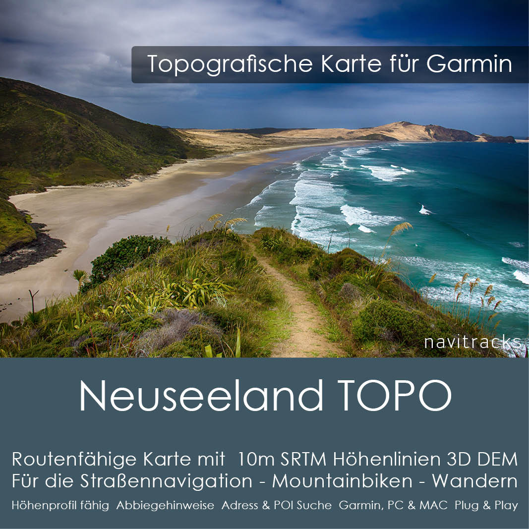 neuseeland topo gps karte f r garmin mit 10m srtm. Black Bedroom Furniture Sets. Home Design Ideas