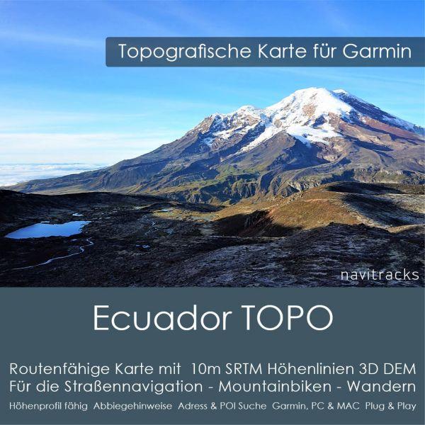 Ecuador Topo GPS Karte Garmin 4GB microSD Karte