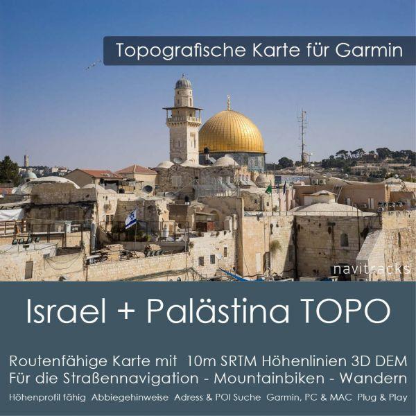 Topo Karte Israel und Palästina (Asien) GPS Karte Garmin mit 10m SRTM Höhelinien (Download)