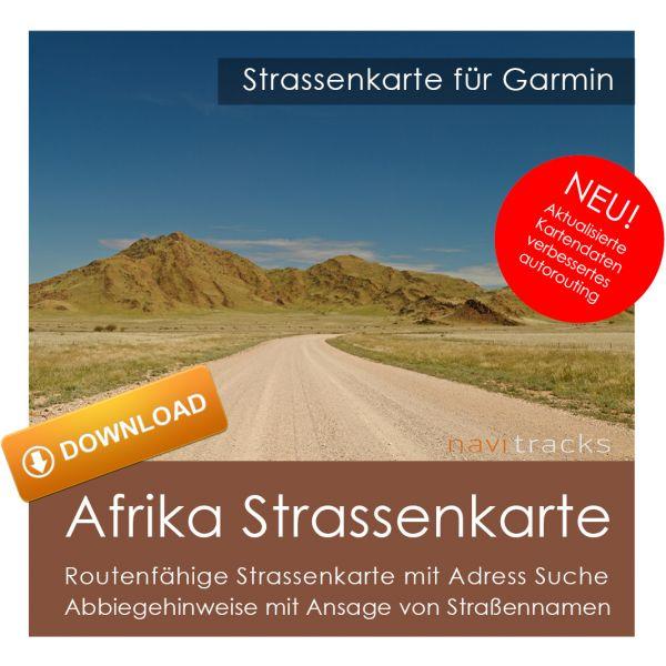 Afrika GPS Strassenkarte für Garmin (Download)