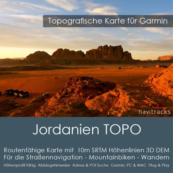 Jordanien Topo GPS Karte Garmin (Download)