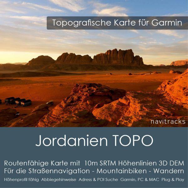 Jordanien Topo GPS Karte Garmin (Download)