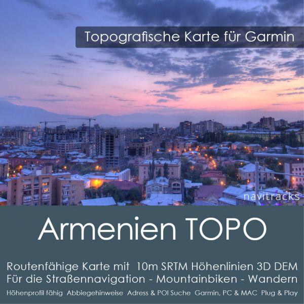 Armenien Topo GPS Karte Garmin 10m SRTM Höhelinien (Download)