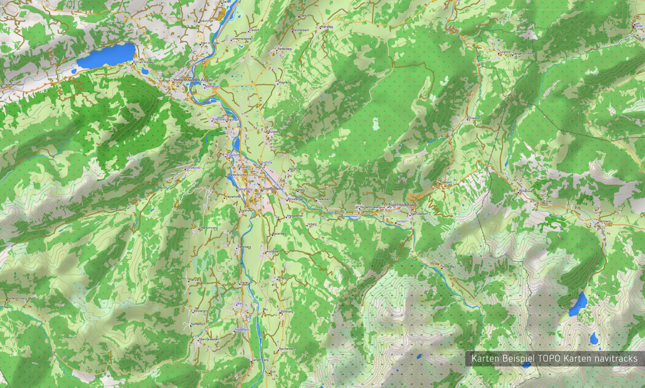 Alpen Topo Gps Karte Garmin Deutschland Schweiz Italien