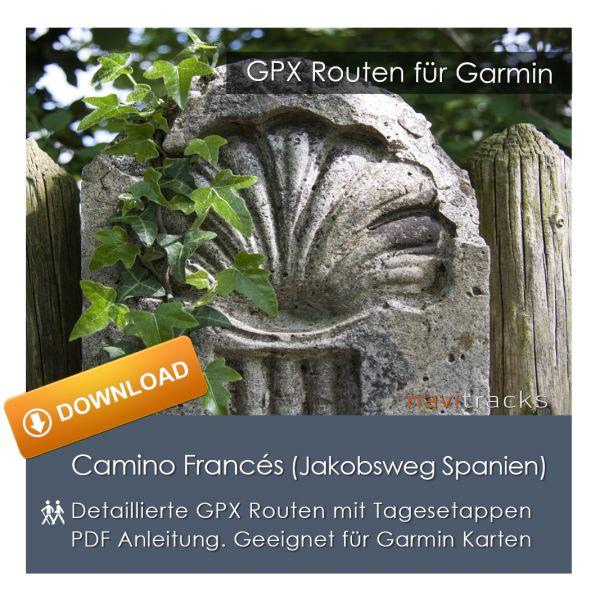Jakobsweg Camino Francés Spanien GPX Track