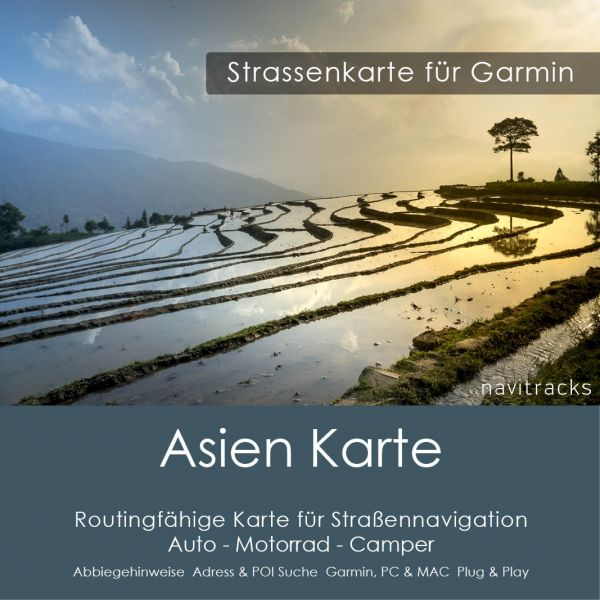 Asien GPS Karte Garmin - Download