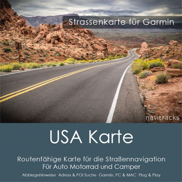 Nord Amerika Garmin Strassenkarte - 8GB microSD Karte